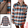 Women Single Breasted Point Collar Multicolor Plaids Shirt S