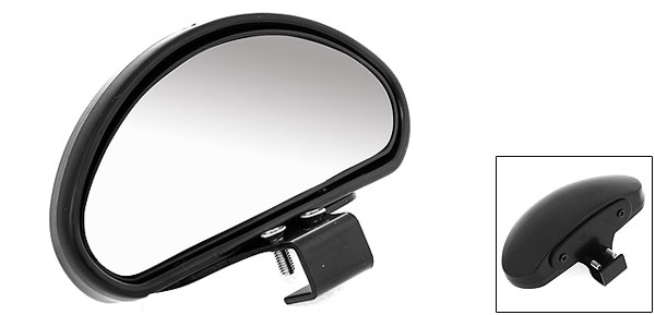 Rectangle Car Screw Mount Wide Angle Convex Rear View Blind Spot Mirror Black