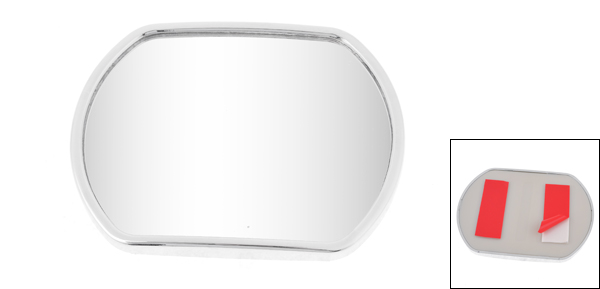 Truck Car Stick-on Wide Angle Convex Rearview Blind Spot Mirror Silver Tone