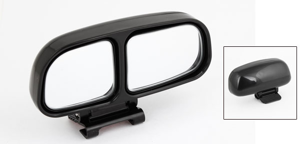 Black Adjustable Car Right Side Rear View Auxiliary Dual Blind Spot Mirror