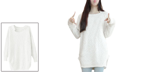 Women Beige Long Sleeved Square Neck Panel Fleece Top Shirt XS