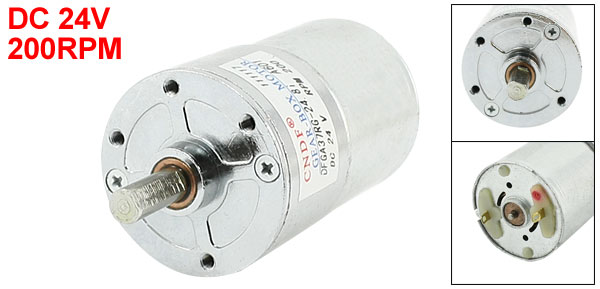 DFGB37RG-24.8i Cylinder Shape DC24V Speed 200RPM Geared Motor