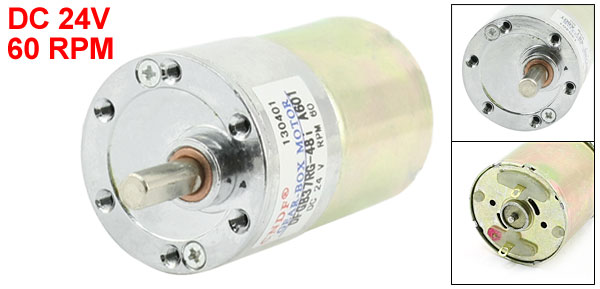 DFGB37RG-48i Cylinder Shape DC 24V Speed 60 RPM Geared Motor