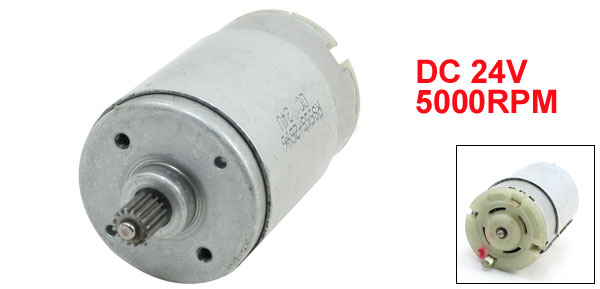 DC 24V 5000RPM 7mm Shaft Mini Electric Motor for DIY Toys