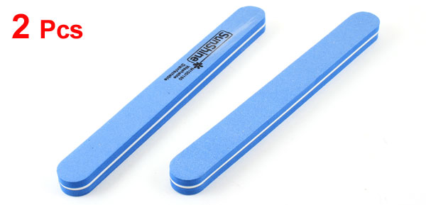 2 Pcs Manicure Polish Polisher Shine Smooth Nail File Tool Dodger Blue