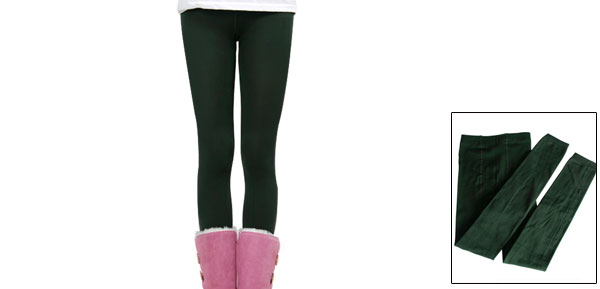 9139# Kids Girls Tight Stretchy Sockings Leggings Army Green for 8-14T