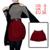 Red Women Splice Back Consealed Zipper High Waist Mini Skirt XS