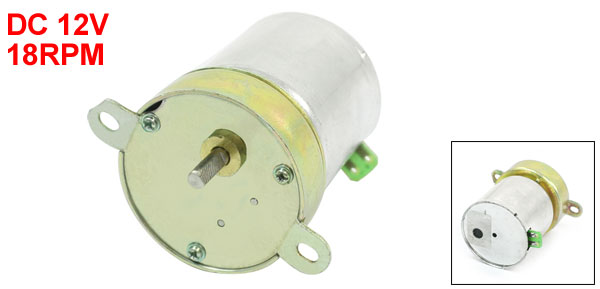 18RPM Rotate Speed Flange Mount Electric Geared Motor DC 12V