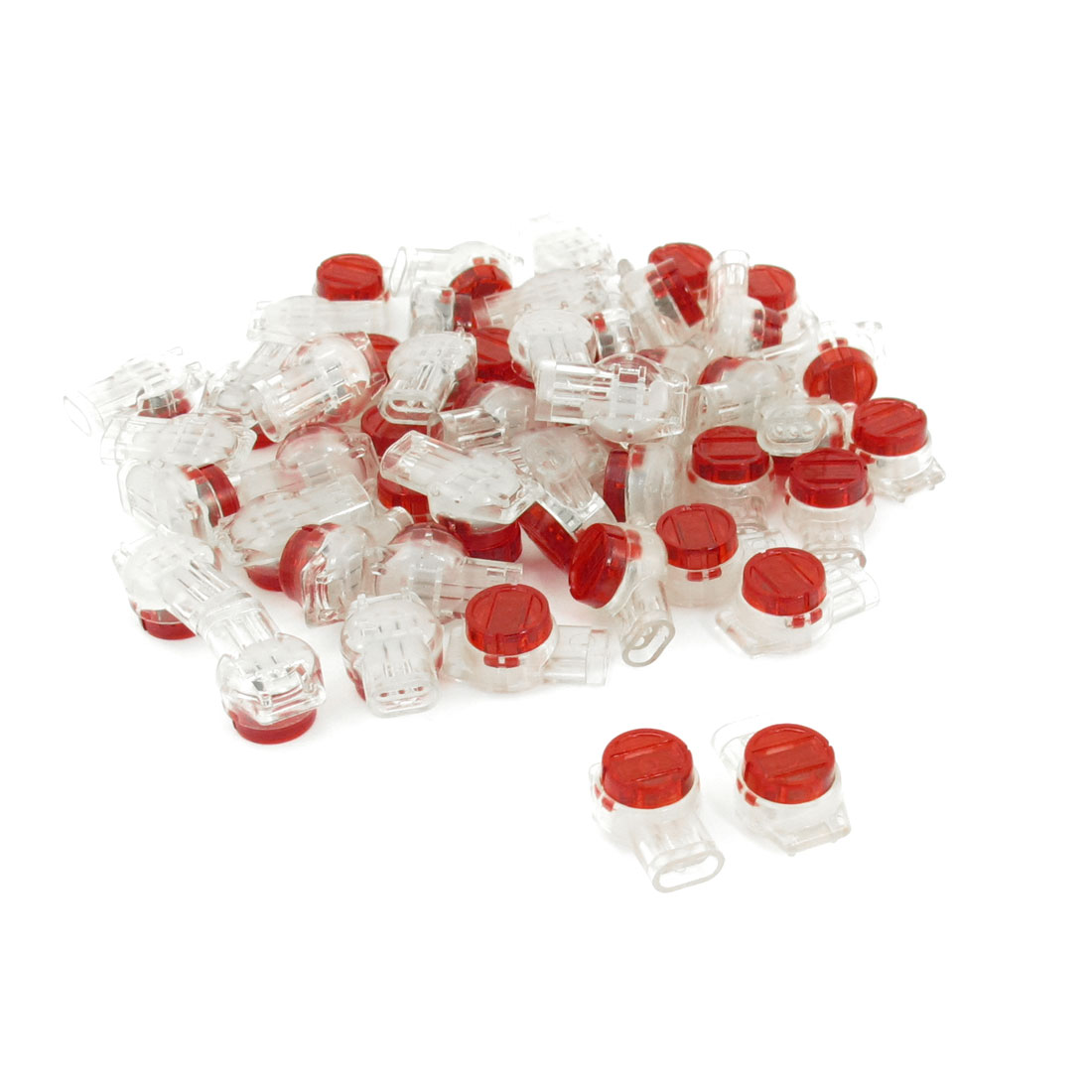 Red-Clear-Gel-Splice-Joints-UY-Connector-Three-Port-Wire-Connectors-50-Pcs