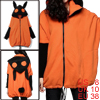 Lady Lovely Orange Batwing Fleece Lined Drawstring Hem Hooded Coat M
