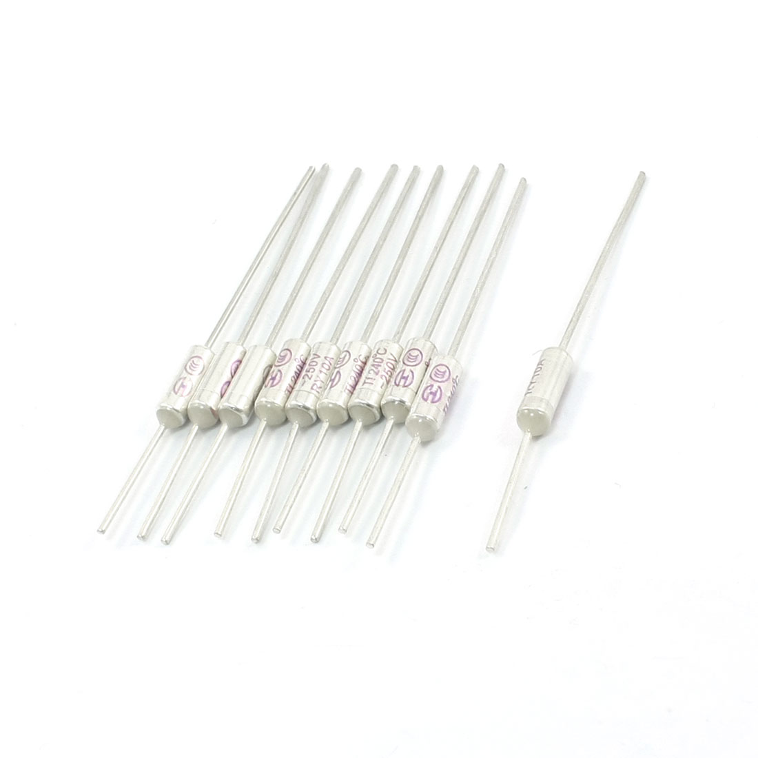 10Pcs-Circuit-Protection-Aluminum-Thermal-Fuse-240C-Degree-250V-10A