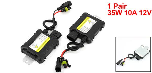 X Autohaux Pair Car HID Xenon Mini Ballast 35W 10A 12V for H1 H3 H7 H8 H9 H10 H11