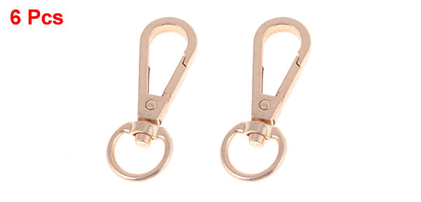 6 Pcs Satchel Shoulder Bag Swivel Clips Buckle Lobster Clasp Copper Tone