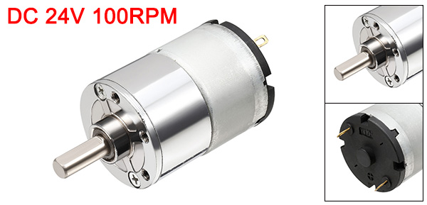 DC 24V 100RPM Rotating Speed Reduce Machine Geared Motor