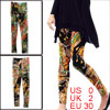 Woman Elastic Waist Multicolor Novelty Pattern Stretchy Soft Leggings XS