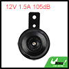 12V 1.5A 105dB Black Shell Universal Motorcycle Car Electric Horn
