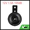 12V 1.5A 105dB Black Shell Universal Motorcycle Car Electric Horn