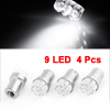 X Autohaux 4PCS Car 1156 BA15S P21W White 9-LED Bulb Turn Signal ...