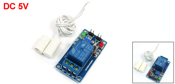 Electronic Magnetic Sensor Relay Module w White Reed Door Contact Switch