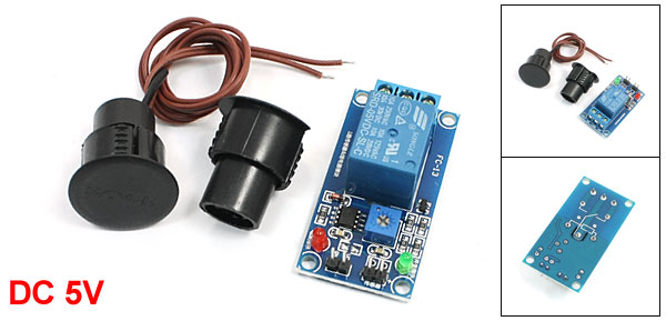 1 Channel Magnetic Sensor Relay Module w Black Reed Door Contact Switch
