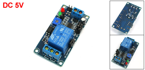 SRD-05VDC-SL-C NO Triggered Time Timer Delay Power Relay Module 5V DC