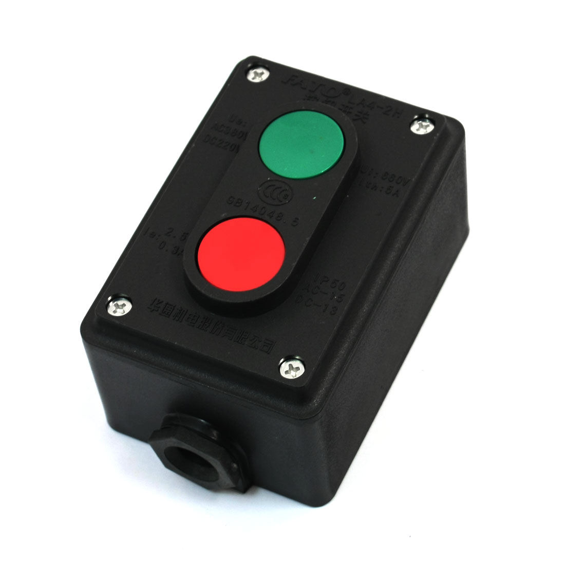 AC-380V-2-5A-2-Position-On-Off-Momentary-Control-Push-Button-Switch