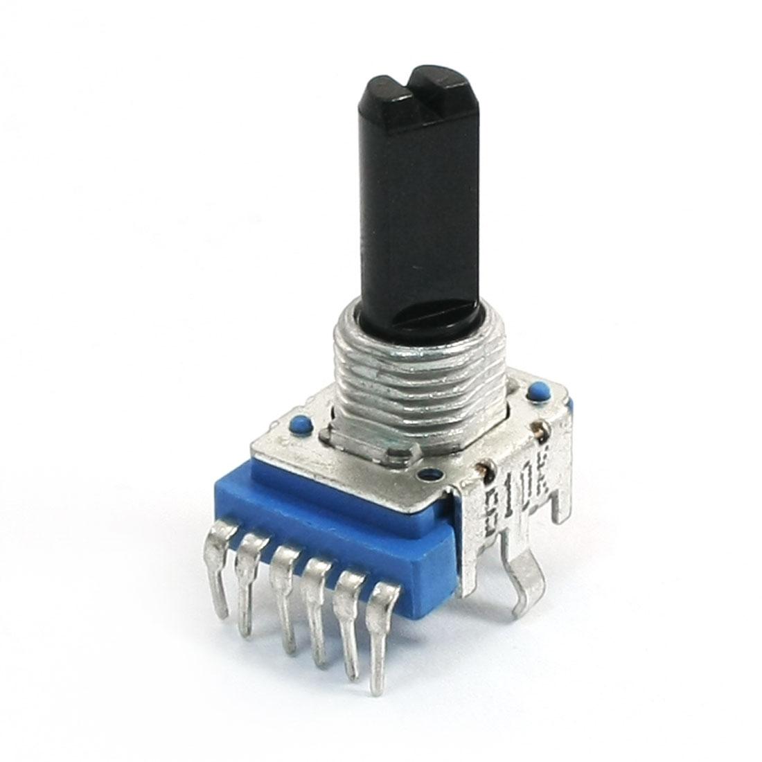 Stereo B10K 10K Ohm Single Linear Taper Volume Control Potentiometer