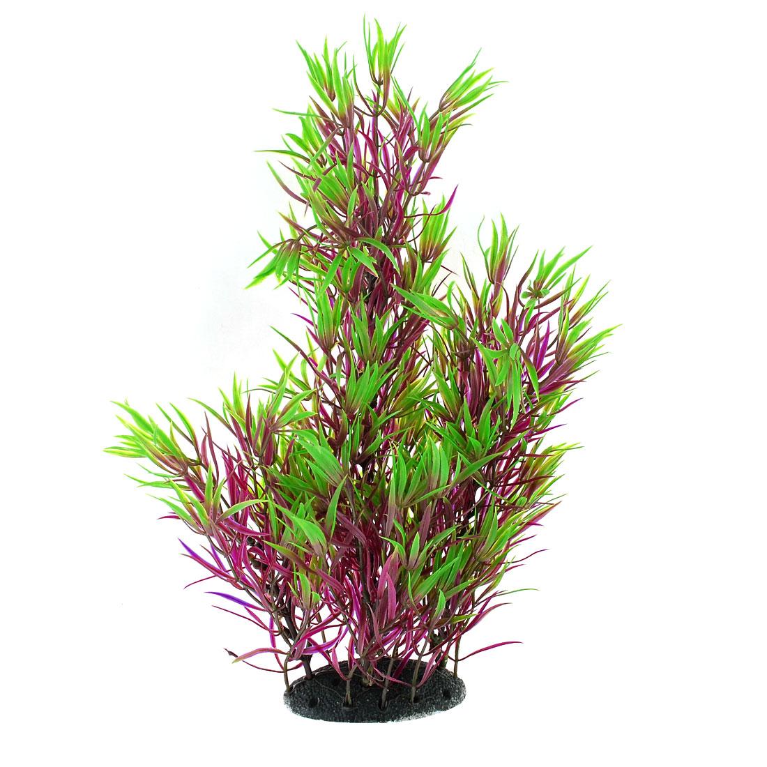 16-9-Fish-Tank-Aquarium-Plastic-Aquascaping-Plants-Grass-Ornament-Green-Purple
