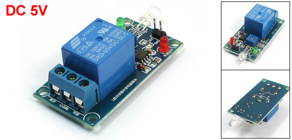 DC 5V LM393 Photosensitive Diode Sensor Light Controlled Relay Module