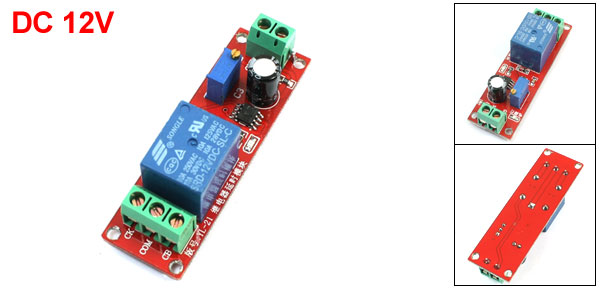 DIY NE555 Monostable Switch Time Delay Circuit Module DC12V Red