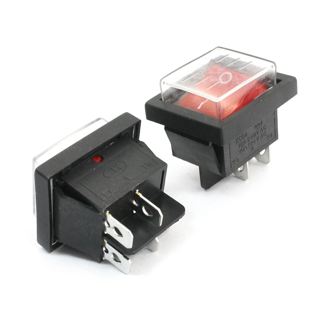 2pcs-DPST-I-O-Red-Button-Waterproof-Boat-Rocker-Switch-AC-125V-20A-250V-16A