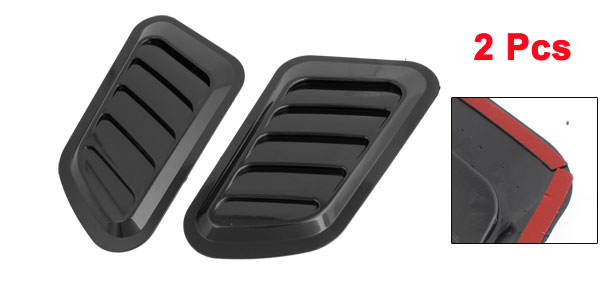 Car Auto Hood Bumper Air Scoop Vent Side Fender Cover Decor Black 2 Pcs