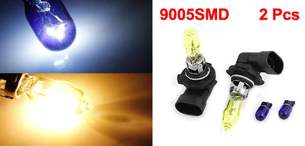 2 Pcs Van Car 9005 Base SMD LED Fog Spare Bulb Head Light Headlamp Yellow 100W
