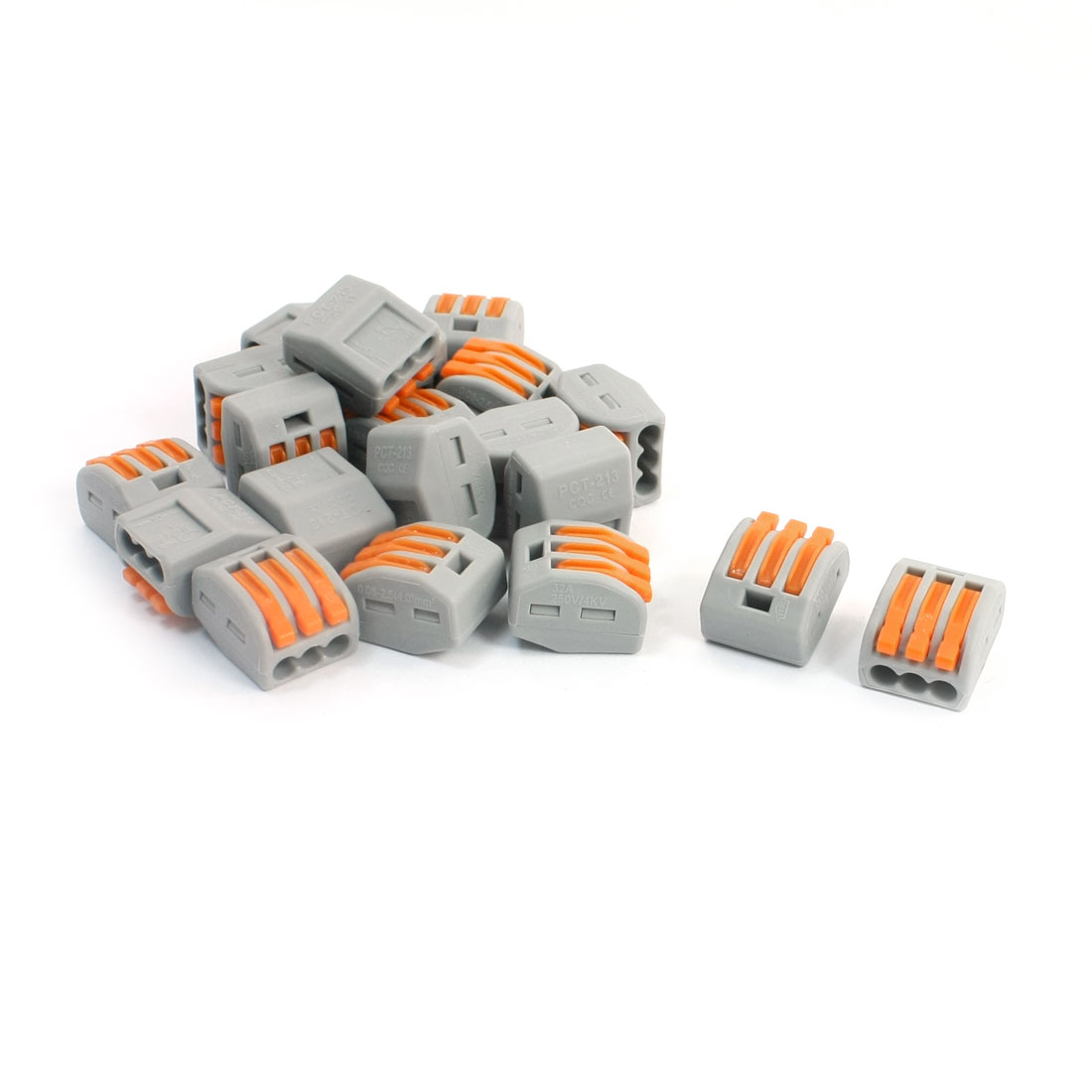 20-Pcs-3-Wire-Cable-Connect-Lever-Clamp-Lock-Terminal-Block-AC250V-32A