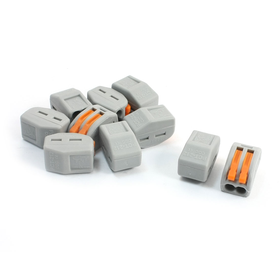 10-Pcs-2-Wire-Connect-Lever-Clamp-Lock-Terminal-Block-AC-250V-32A