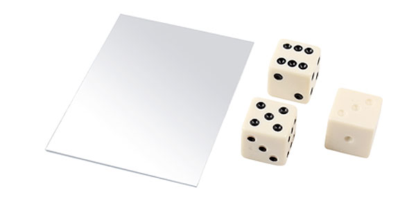 Party Props Beige Plastic Dice Illusion Magic Toy Trick Tool