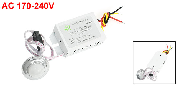 AC 170-240V IR Infrared Motion Sensor Wall Light Auto Switch XD-310