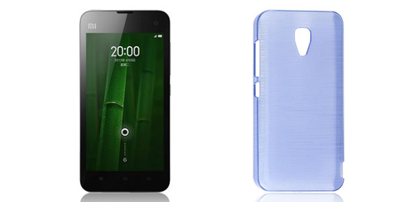 Indigo Blue Hard Plastic Back Case Cover Shell Guard for Xiaomi 2A