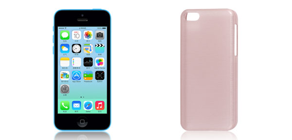 Pink Plastic Anti Slip Protective Back Case Cover Shell for iPhone 5C