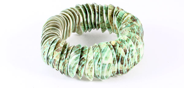 22cm Girth Seashell Party Decor Cowry Bracelet Light Green for Ladies