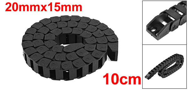 Black Plastic Towline 20mm x 15mm Cable Drag Chain 39