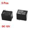 5 Pcs DC 12V Coil Voltage 6 Pin PCB in Power Relay...