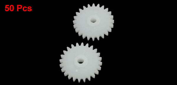 50Pcs 13mm x 2mm 24 Teeth Single Steering Plastic RC Toy Motor Drive Shaft Gear