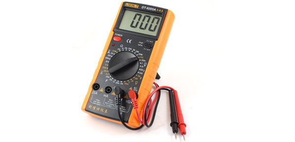 DT-9205A AC/DC Voltmeter Ammeter Resistance Digital Multitester Yellow Black
