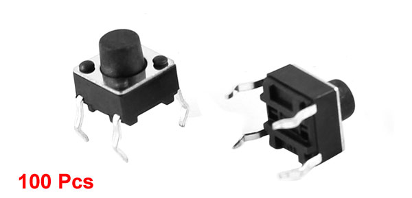 100 Pcs Electronic Component Momentary Contact Micro Switch