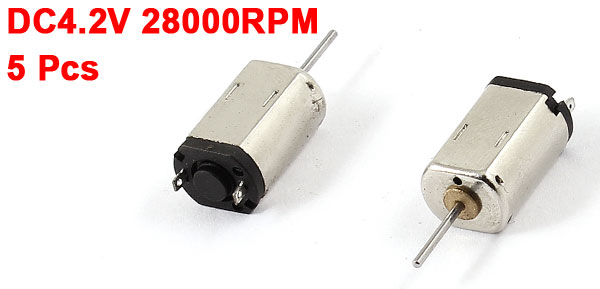 5 Pcs DC4.2V 28000RPM Rotary Speed Magnetic Mini Motor for DIY Toy