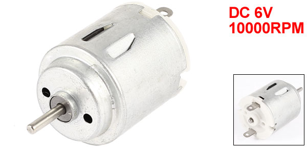 DC 6V 10000RPM 2mm Shaft Magnetic Electric Gear Box Motor Replacement
