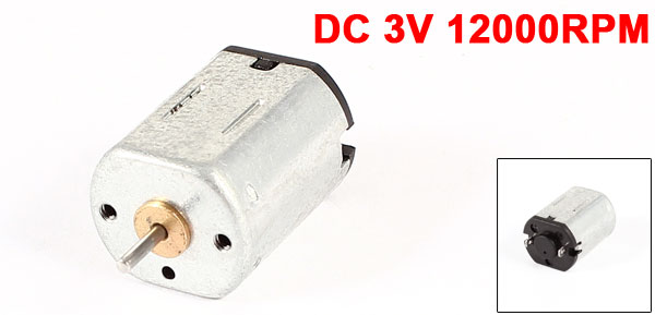 DC 3V 12000RPM Output Speed Gear Box Micro Electric Geared Motor