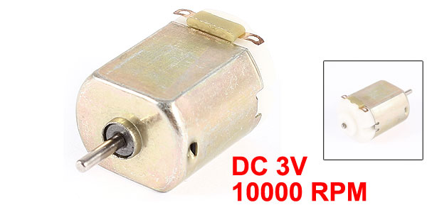 DC 3V 10000RPM Magnetic Speed Gear Box Micro Electric Geared Motor
