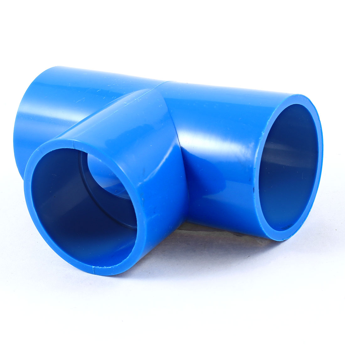 40mm-Inner-Diameter-T-Type-PVC-U-Pipe-Connector-Adapter-Blue